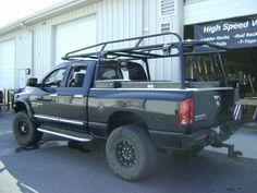 Custom Black Truck Rack