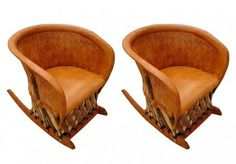 Weave Back Mexican Equipale Rocking Chair