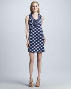 kate spade new york  lucille sleeveless lattice-knit dress