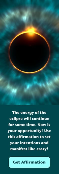 The energy of the eclipse will continue for some time. Now is your opportunity to use the prayer included here to set your intentions and manifest like crazy! Akashic Records Wisdom, Solar Eclipse, Law of Attraction, Affirmation prayer