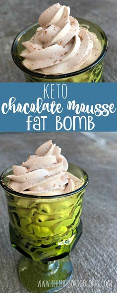Chocolate Mousse Keto Fat Bomb! Plus other fat bomb ideas in her video! #keto #fatbombs