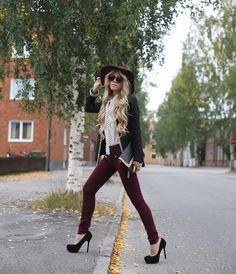 Shop this look on Kaleidoscope (pants, blazer, hat) http://kalei.do/XDlbTqKvfN4roLlB