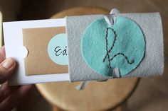 Homemade Gift Card Holder... Very delicate idea for someone special.