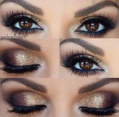 Make Up – 52 Best Gorgeous and Trendy Brown Eyes Makeup Design for Prom o … - Prom Makeup Wedding Makeup For Brown Eyes, Makeup Looks For Brown Eyes, Wedding Makeup Tips, Prom Makeup, Wedding Hair And Makeup, Makeup For Party, Make Up Brown Eyes, Best Eyeshadow For Brown Eyes, Bride Makeup