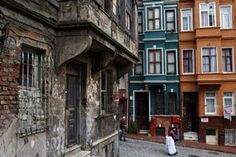 Emrah Gultekin, a local property developer envisions a revived neighborhood. Old buildings stand next to renovated houses in Istanbul's Balat neighborhood, a UNESCO-protected district on the Golden Horn waterway.