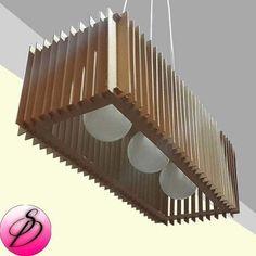 lampara colgante madera mdf reccubik diseño moderno