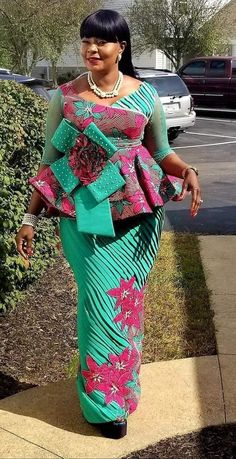 Fashion Tips Ideas Ankara Skirt and Blouse Styles.Fashion Tips Ideas Ankara Skirt and Blouse Styles African Maxi Dresses, Latest African Fashion Dresses, African Dresses For Women, African Print Fashion, African Attire, Africa Fashion, Ankara Dress, African Women, Ankara Skirt And Blouse