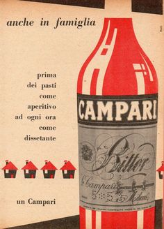 Pubblicità Advertising 1956 BITTER CAMPARI (2)
