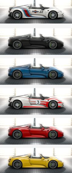 Porsche 918 spyder. Ahhhh! That looks so amazing! amazing hybrid, possibly better than the P1