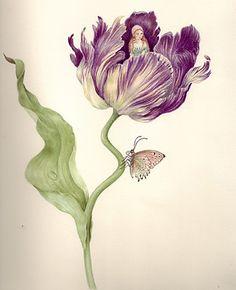 Thumbelina In Tulip - Watercolor