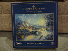 1000 piece PUZZLE - CHRISTMAS MOONLIGHT - ARTWORK THOMAS KINKADE