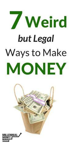 These are some weird ways to make money! #makemoney, #sidehustle