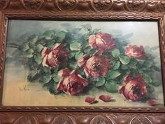 My thrift store purchase of the day is this watercolor of a bunch of roses. I think it may be by Beatrice Whitney Van Ness .