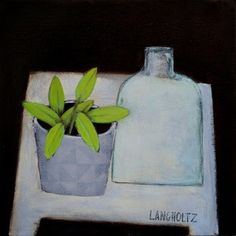 Potted, 12x12, Acrylic on Canvas 2018 Gabe Langholtz