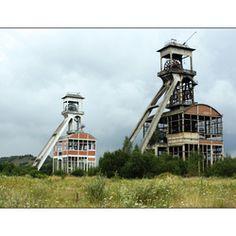 Industrial heritage, coalmine, Eisden, Maasmechelen, Belgium