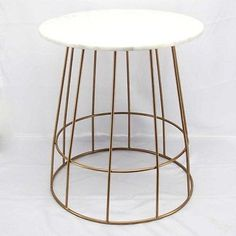 ANTIQUE-GOLD-COLOUR-METAL-BASE-SIDE-TABLE-WITH-WHITE-MARBLE-TOP-AVAIL-NOW
