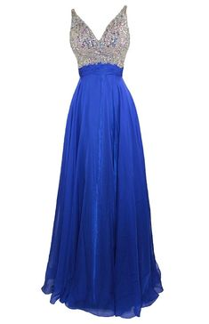 Lovely long formal prom homecoming special occasion royal blue dress with straps
