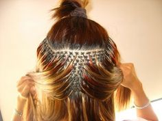 How to: Fusion Hair Extensions (in school )
