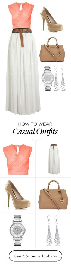 """Casual"" by leah-fedder on Polyvore featuring River Island, Michael Kors and Allurez"
