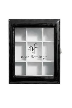 """Black and clear case can hold 9 Nora Fleming dining minis.  Dimensions are 8"""" x 10"""" x 3"""".  Keepsake Box by Nora Fleming. Home & Gifts - Gifts - Odds & Ends Texas"""