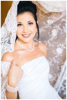 Beautiful bride with lace veil!  Photo by Charl vd Merwe Photography