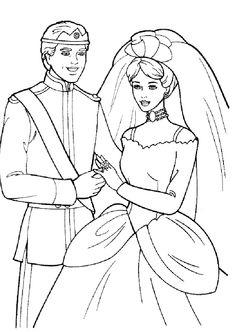 Casamento da Barbie para imprimir » Desenhosparaimprimir.net