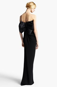 Lanvin Strapless Bow Back Gown