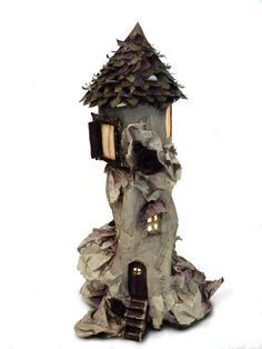 paper mache fairy houses - Google Search