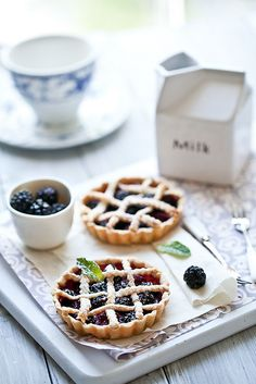 Fresh Berries Tarts by tartelette, via Flickr #desery #lody #inteligentnystyl www.amica.com.pl
