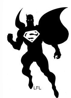 Superman Silhouette by LeoLaino76 on deviantART