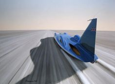 Sir Malcolm Campbell's Bluebird on the way to world speed record