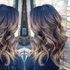 Highlights on darker hair