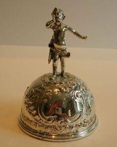 Fabulous Antique Sterling Silver Table Bell Cherub 1896 | 121014 | Sellingantiques.co.uk