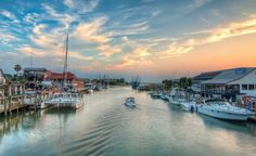 Shem Creek- restaurants, piers, boats, kayaking, paddleboarding, dolphins