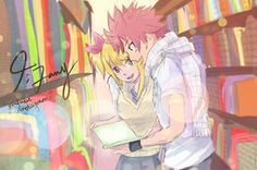 Natsu Dragneel and Lucy Heartfilia (Nalu) from Fairy Tail