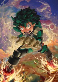 Fanart My Hero Academia : Dessin étape par étape de Izuku Midoriya