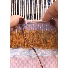 I was intrigued to try this Diamond stitch that is used in embroidery. I really like the end result! I was intrigued to try this Diamond stitch that is used in embroidery. I really like the end result! Weaving Loom Diy, Weaving Art, Tapestry Weaving, Weaving Textiles, Weaving Patterns, Stitch Patterns, Weaving Wall Hanging, Diy Crafts Hacks, Art Textile