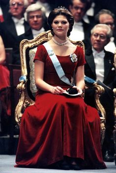 European Monarchies:  Crown Princess Victoria of Sweden at her first Nobel Prize Ceremony-1995 (she turned 18 that year)