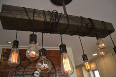 Lighting  Wood Light  Chandelier  Hanging by UnionHilIronWorks