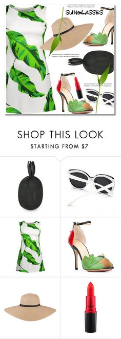"""Vintage Love: Retro Sunglasses"" by paculi ❤ liked on Polyvore featuring Aranáz, Charlotte Olympia, MAC Cosmetics and vintage"