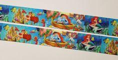"6  Yards 1"" The Little Mermaid Inspired  Grosgrain Ribbon/Polyester #Unbranded"