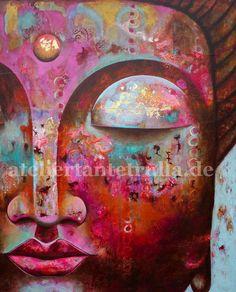 30 x 40 cm Fine Art Print Buddha III door ateliertantetrulla, Zen Painting, Buddha Painting, Buddha Zen, Mystique, Yoga Art, Zen Art, Beautiful Paintings, Indian Art, Painting Inspiration