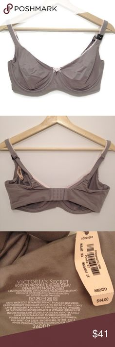 Victoria's Secret Body by Victoria Unlined Demi Comfortable and practical, the perfect neutral bra in grey. Brand new with tags! (NWT) This Victoria's Secret bra is available in size 34C and 36DDD! This listing is for one bra. Select your size! 💕 Check out the rest of the VS bras in my closet! @americanlovely #comfy #brawardrobe Victoria's Secret Intimates & Sleepwear Bras