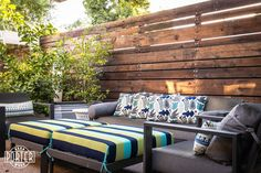 Outdoor Wood Wall, when you live in Arizona outdoor living is a must, check out this wood wall we did for this lush outdoor space in Central Phoenix. Living In Arizona, Custom Wood, Outdoor Furniture, Outdoor Decor, Barn Wood, Wood Wall, Wood Projects, Outdoor Living, Table