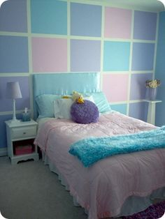 teen bedroom ideas green, blue, purple and pink - Google Search