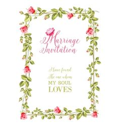 Marriage invitation vector by Kotkoa on VectorStock®