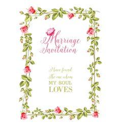 Marriage invitation vector by Kotkoa on VectorStock®