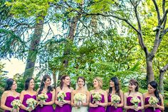 great color for the Bridesmaids' dresses. Brewery Gardens = the perfect background! Photo courtesy of Fonyat Photographer