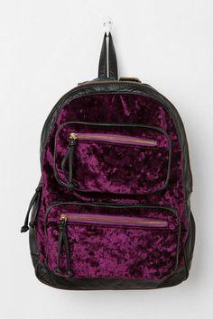 bag backpack velvet purple burgundy black&bordeaux velvet backpack velver bag grunge indie hipster tumblr black bag zips gold details alternative dark violet pastel goth pastel grunge