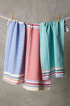 The BEST dish towels!!! Cozy Stripe Dishtowels #anthropologie